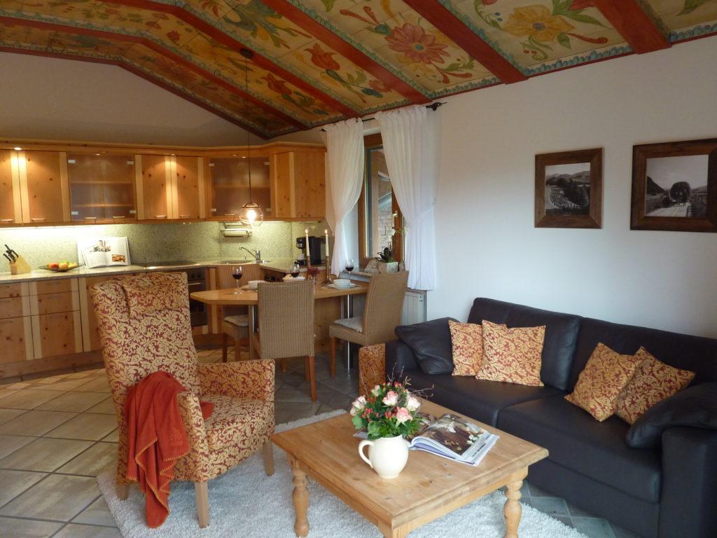 Ferienwohnung Nebelhorn Wohnzimmer